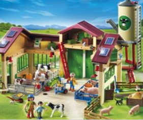 Playmobil - stald med silo